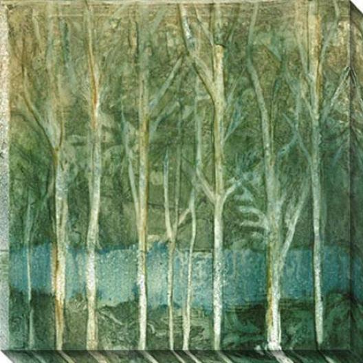 Imposed Environment Ii Canvas Wall Art - Ii, Green