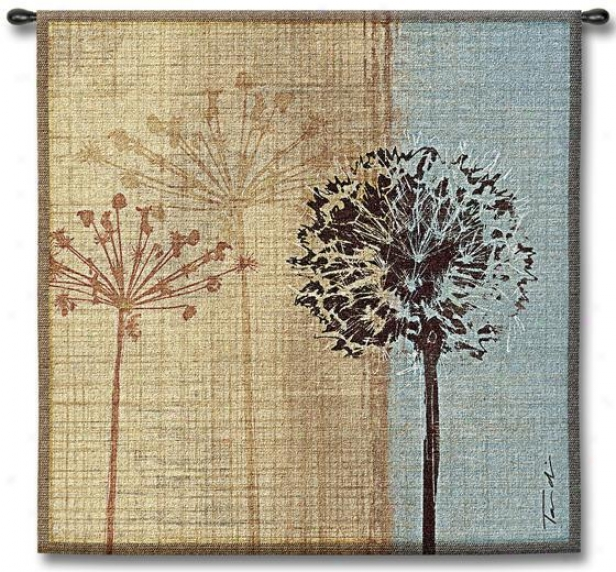 """in The Breeze Tapestry - 35""""hx35""""w, Mylti"""