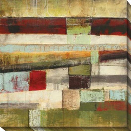 Incidental I Canvas Wall Art - I, Green