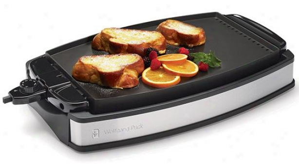 Indoor Electric Reversible Grill Anc Griddle - 14hx5w, Stainless Steel/black