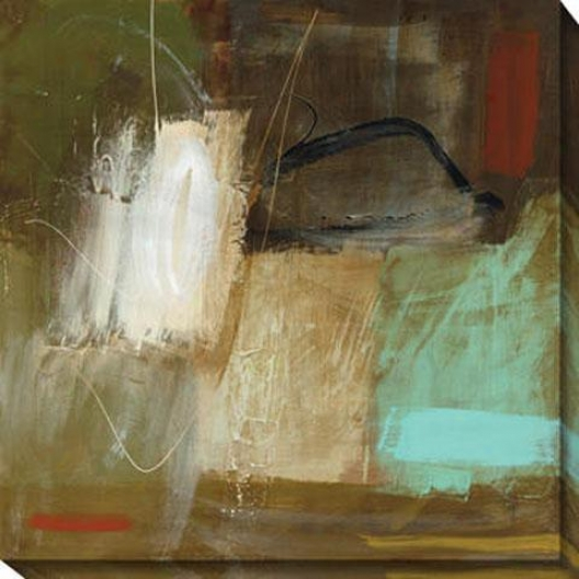 Inhabited Space Ii Canvas Wall Art - Ii, Green