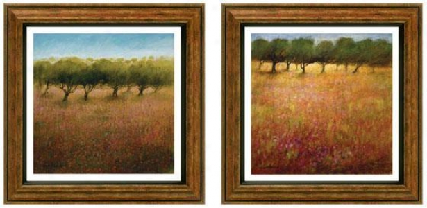 Inspirational Orchard Framed Wall Art - Set Of 2 - Set Of Two Earthtones