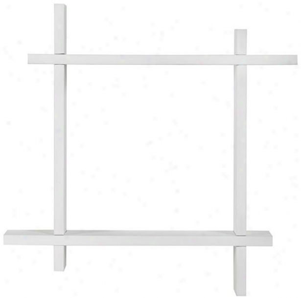 Interlockiny Ledge - 21hx2lw, White