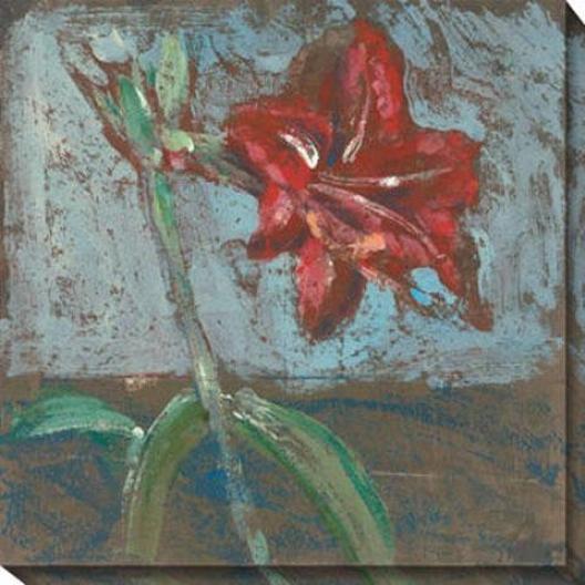 """iris Canvas Wall Art - 40""""hx40""""w, Blue"""