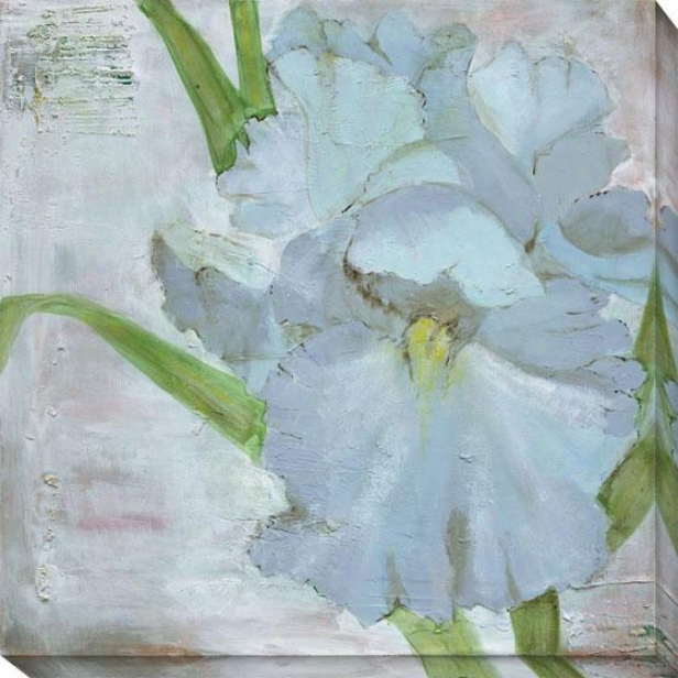 """iris In Periwinkle Canvas Wal Art - 40""""hx40""""w, Blue"""