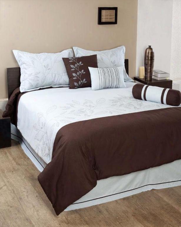 Ivy Comforter Set - Queen, Chocolate Brown