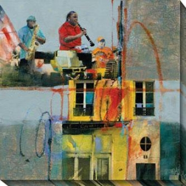 """jackson Square Canvas Wall Art - 40""""hx40""""w, Blue"""