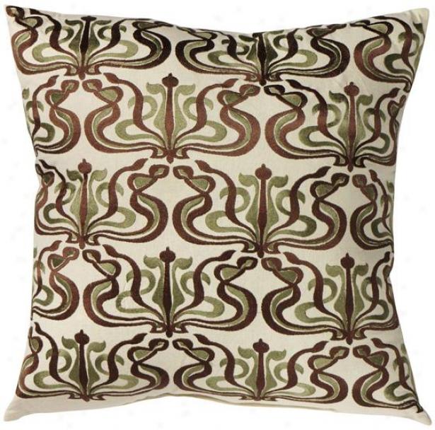 Jacqu3line Decorative Pillow - 20hx20wx7d, Gray