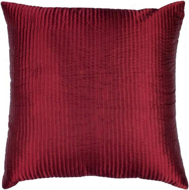 Hussy Decorative Pillow - 18hx18w Down, Red
