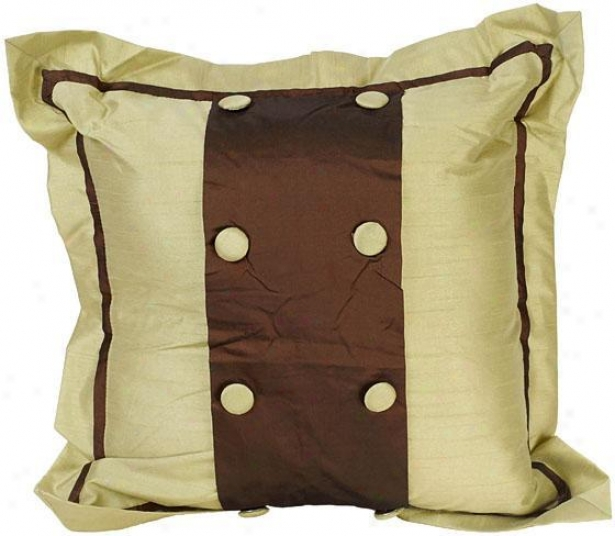 """jessica Pillow - 18"""" Square, Chocolate Brown"""