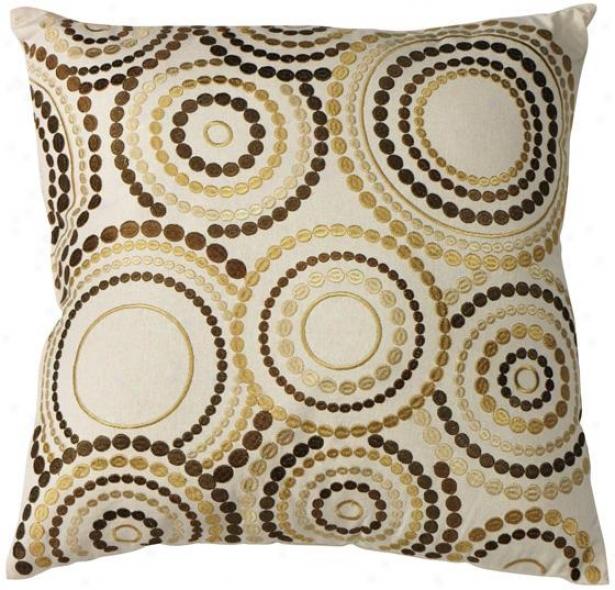 Joelle Decorative Pillow - 20hx20wx7d, Beige