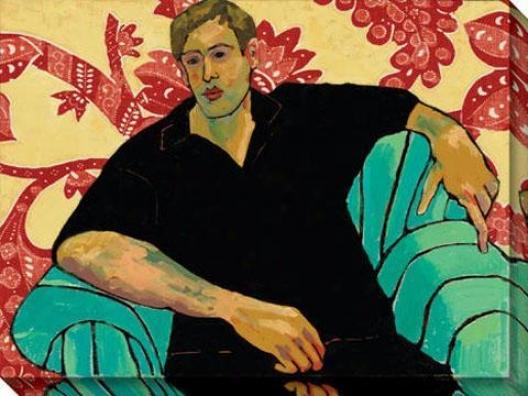 """""""john At Rest Canvas Wall Art - 48""""""""hx36""""""""w, Black"""""""
