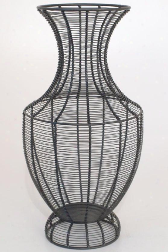 """""""jorgen Wire Vase - 18""""""""h X9 """"""""round, Black"""""""
