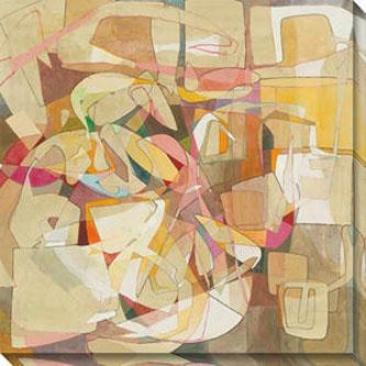 """""""jubilee Canvas Wall Art - 40""""""""hx40""""""""w, Ivory"""""""