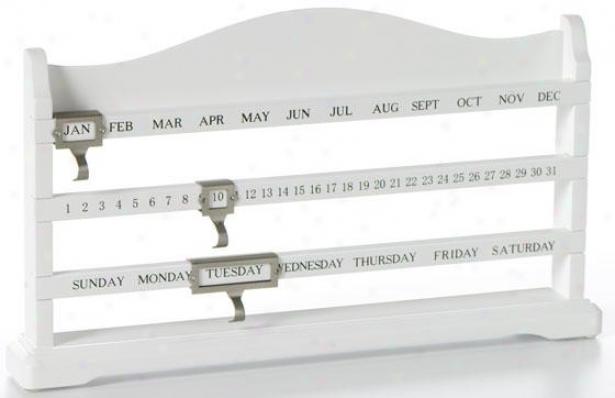 """jude Desk Calendar - 13""""wx75.""""hx1.5d, White"""