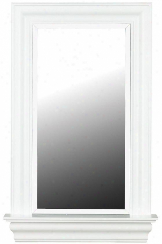 """juliet Wall Mirror - 37h X 24""""w, White"""