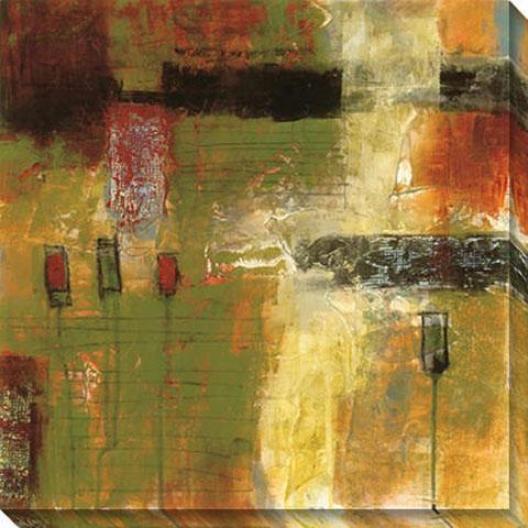 Juxtapoxe Canvas Wall Trade Ii - Ii, Green