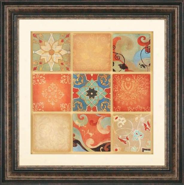 """kaleidoscope Framed Wall Art - 43""""square X 2""""d, Multi"""