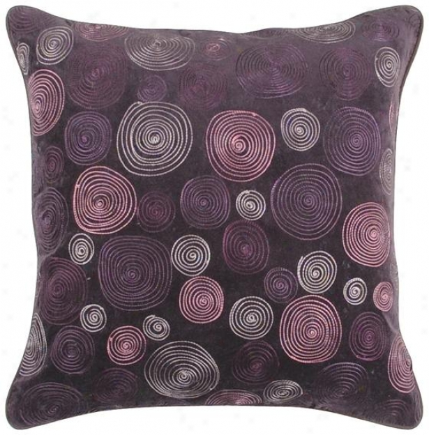 Kaylee Decorative Pillow - 18hx18w Poly, Purple