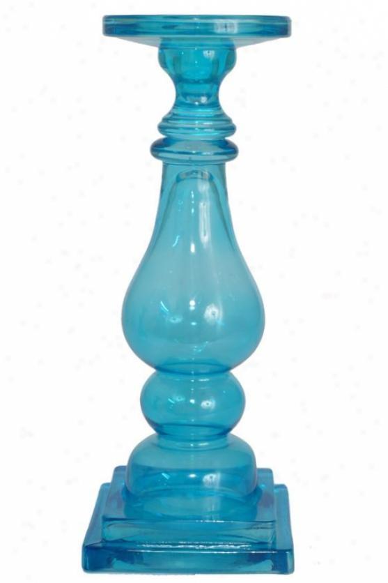 """""""kayne Candleholder - Large: 13h X 5""""""""rd, Turquoise"""""""
