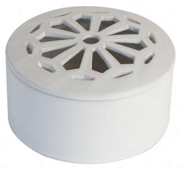 """keegan Coverer Ceramic Jar - 2.5h X 5""""rd, White"""