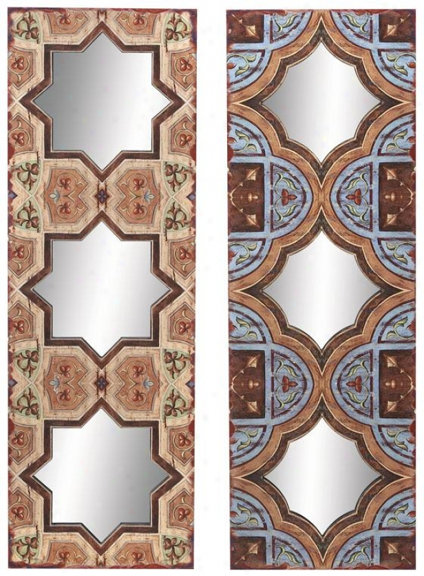 """elsey Mirror - Set Of 2 - S/2 36""""hx12""""w, Mutli"""