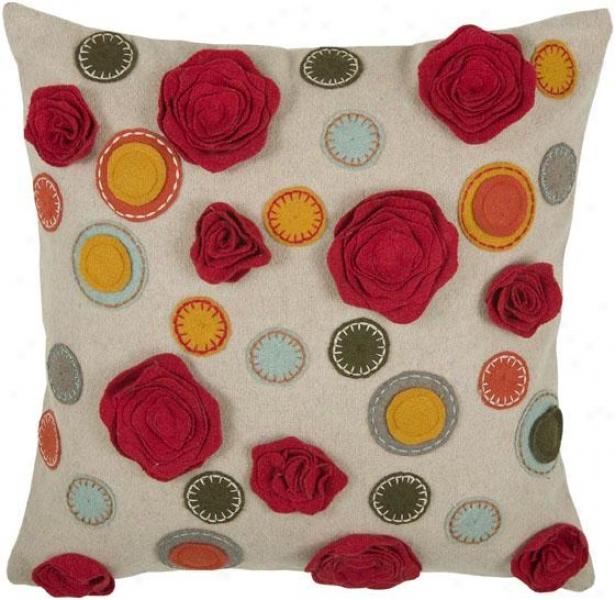 Kelsey Pillow - 18hx18w, Beeige