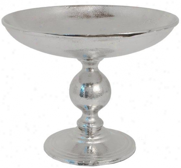 """kendall Footed Bowl - 10h X 11""""rd, Silver"""