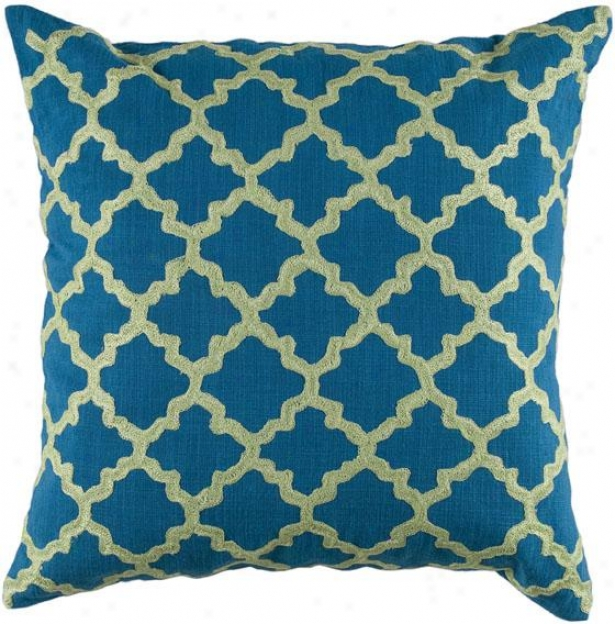 """keyes Decorative Pillow - 18"""" Equality, Blue/lime"""