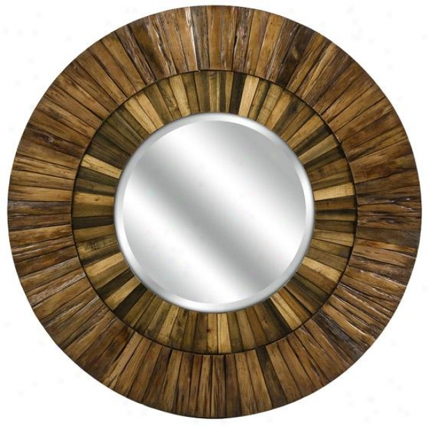 Klein Wood Mirror - 35hx35w, Brown