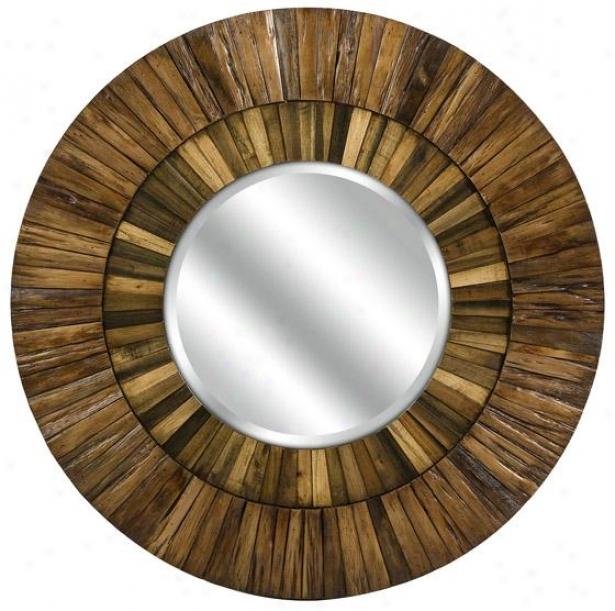 Klein Wood Mirror - 35hx35w, Brown