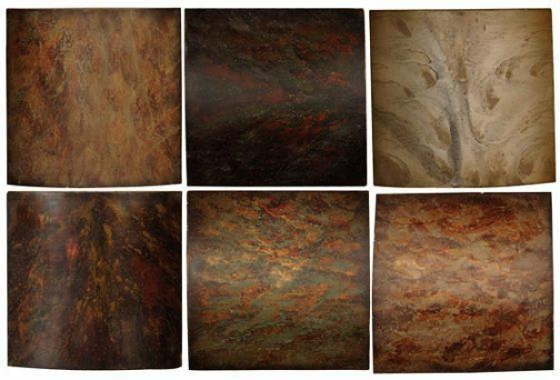 """klum Wall Art - Set Of 6 - 10""""hx10""""w, Brown"""