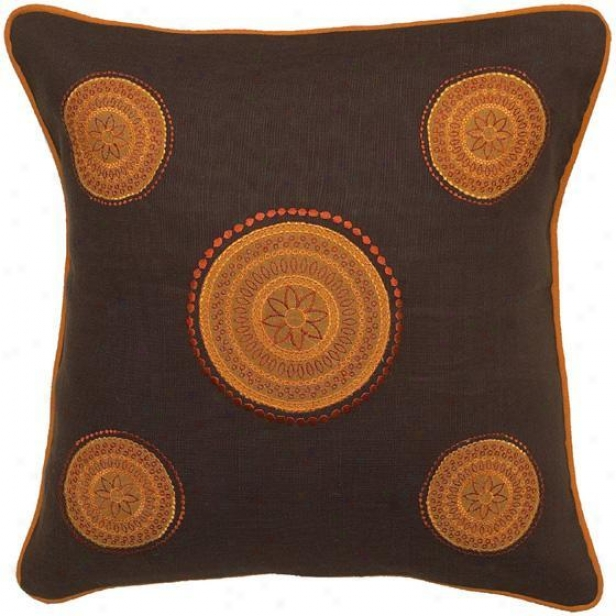 """kohinoor Pillows - Set Of 2 - 18""""x18"""" , Chocolate Brown"""