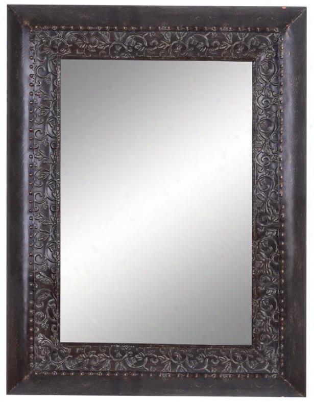 Kylie Metal Wall Mirror - 49hx37w, Black