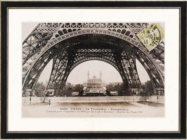 """la Bae De La Tour Eiffel Framed Wall Art - 35 """"h X 47""""w, Black"""