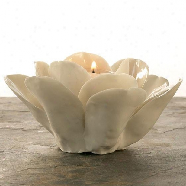 La Vie En Blanc Rose Candleholdee