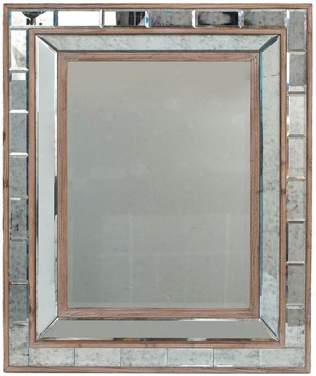 """lachlan Mirror - 39""""hx31.5""""w, Clear/lt Wood"""