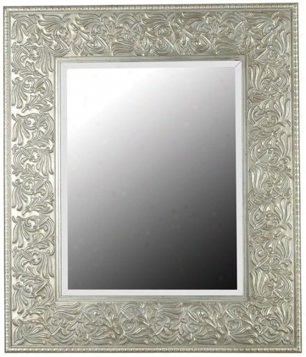 """""""lafayette Wall Pattern - 41h X 35""""""""q, Gilded Antique Silver"""""""