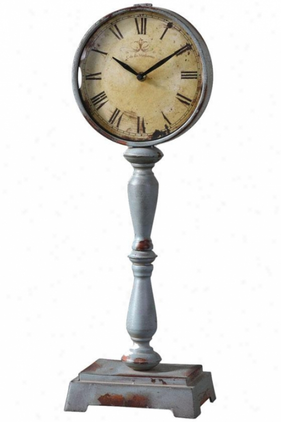 """lamoine Cottage Clock - 22.5 X 8 X 5"""", Antique Ivry/bl"""