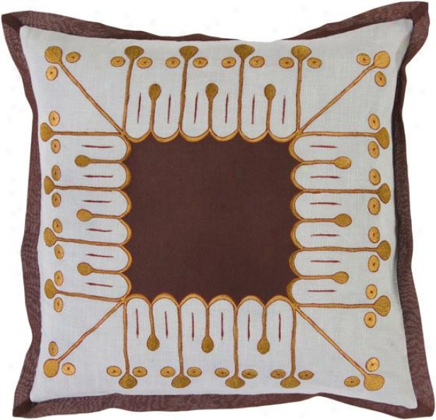 Lance Decorative Pillow - 18hx18w Down, Whitish Blue