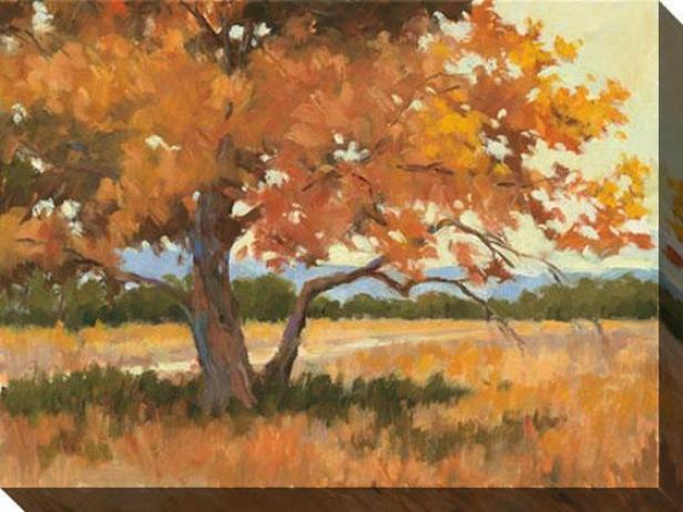 LandscapeI n Gold I Canvas Wall Art - I, Orange