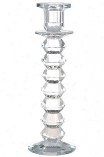 """langley Lead Crystai Candlestick - 10""""h, Crystal"""