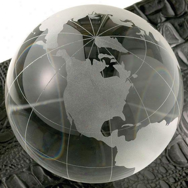 """lanier Globe Paperweight - 3""""d, Clear"""