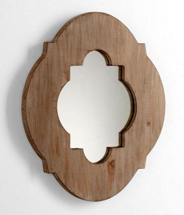 Larking Wall Mirror - 18hx15.25w, Washed Wood