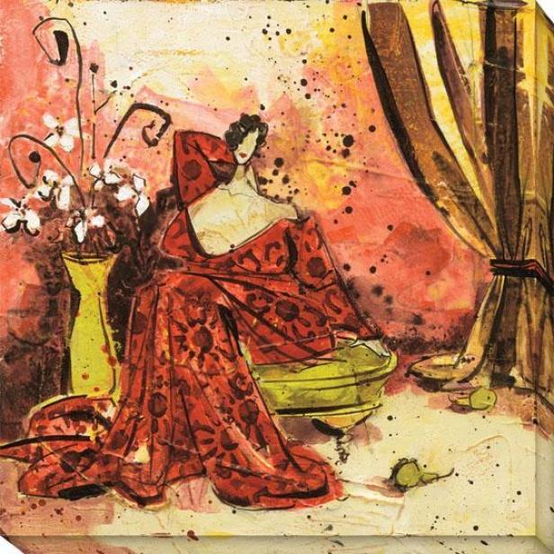 Lavish Setting Ii Canvas Wall Art - Ii/red/brown, Multi