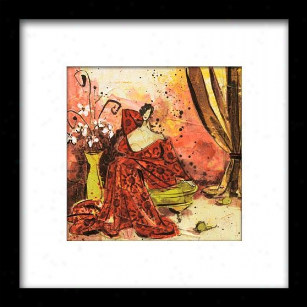 Lavish Setting Ii Framed Wall Art - Ii, Matted Black