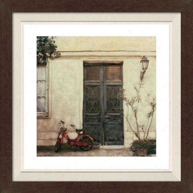 """""""le Visite Framed Wall Art - 30""""""""hx30""""""""w, Fltd Espresso"""""""