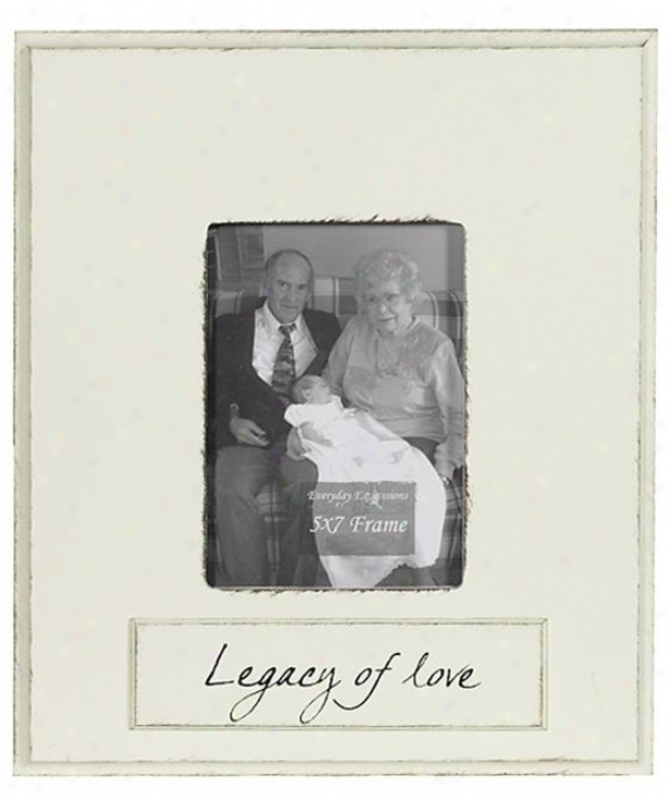 Legacy Of Love Frame - 5 X 7 - 5x7, Ivory