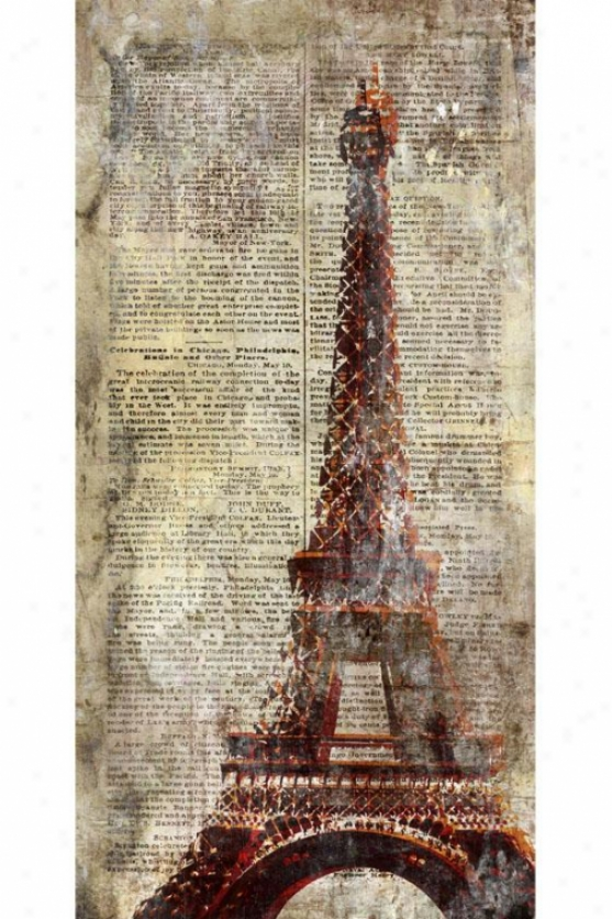 Letters Wall Art - Ii - Eiffel, Antiqued
