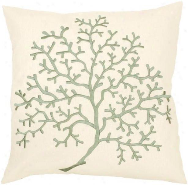 Liam Decorative Pillow - 18hx18w Down, Ivory